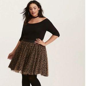 Torrid Leopard Print Tulle Skirt